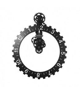 Big hour wheel clock - black - 55O