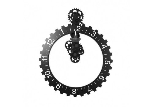 Big hour wheel clock - black - 55O