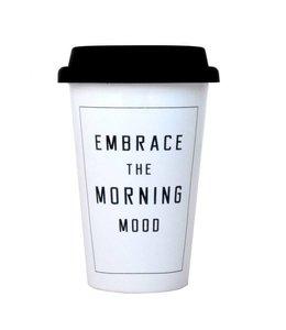 Take away Mug - embrace morning moo