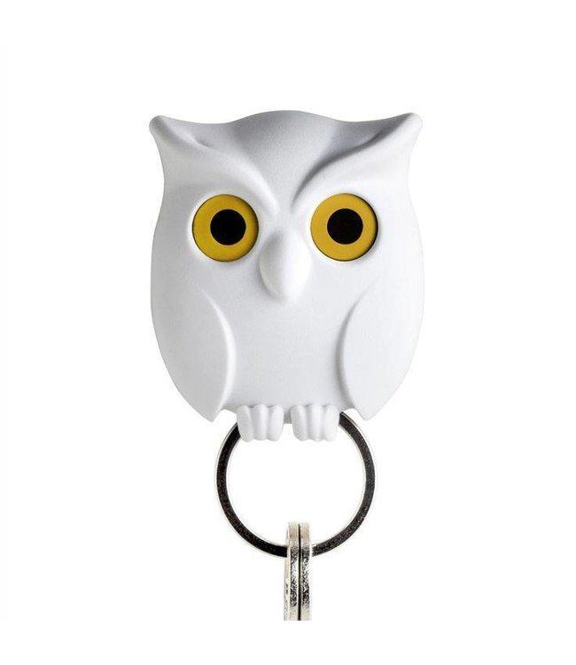 Sleutelhouder - Night Owl wit
