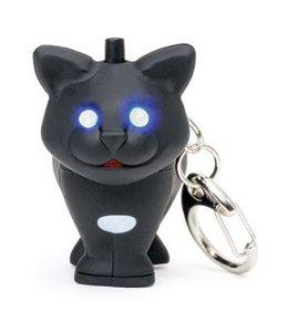 Kikkerland Sleutelhanger- zwarte kat