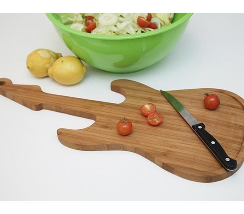Bamboe snijplank - gitaar