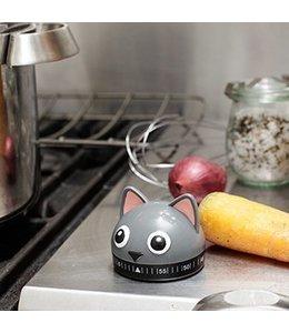Kikkerland Kookwekker kat