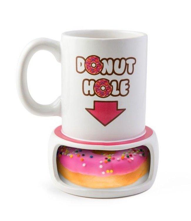Big Mouth Koffie beker met Donut lade