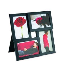 Fotolijst Pane zwart - 4x 10x15cm