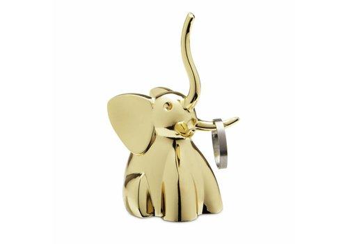 Zoola elephant ringholder brass