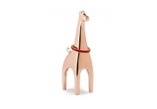 Anigram giraffe copper ringholder