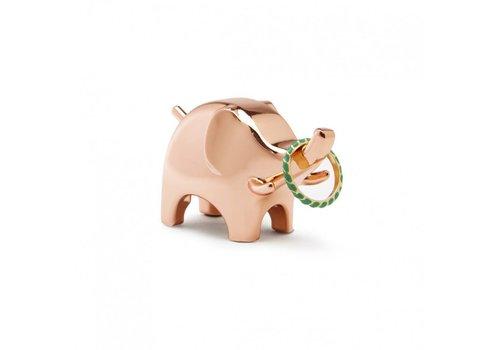 Anigram elephant copper ringholder