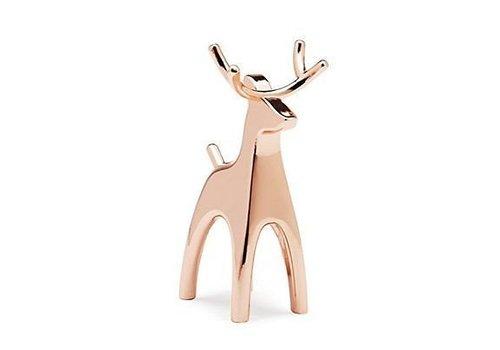 Anigram reindeer copper ringholder
