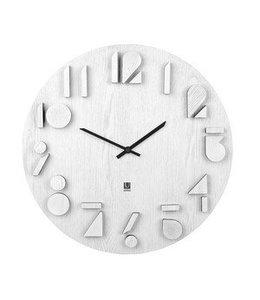 Shadow wall clock white