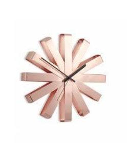 Ribbon wall clock copper