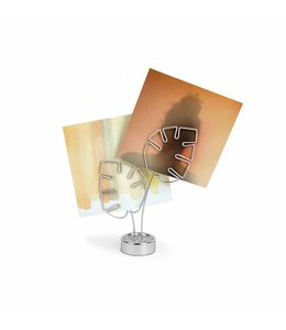 Leaflet photo/memo holder