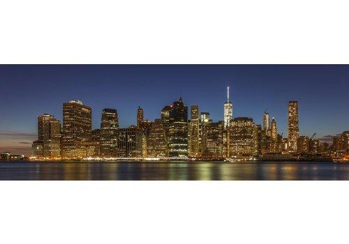Brooklyn Bridge en Skyline Manhattan