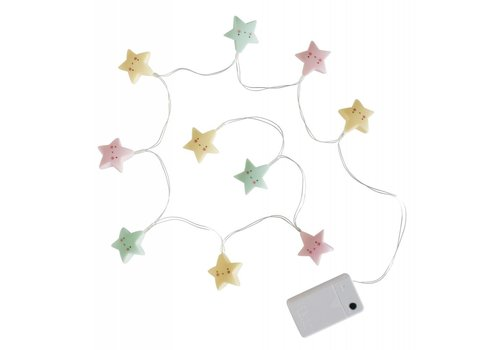 String Lights stars - pastel