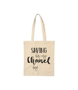 Beezonder Katoenen tas Saving for my Chanel