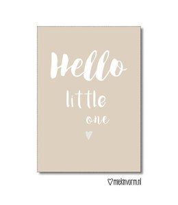 Poster A4 Hello little one