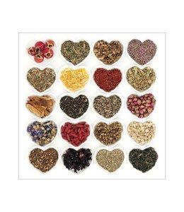 Specerijen in hart vorm
