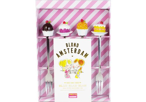 BLOND AMSTERDAM SET 4 CAKE FORKS