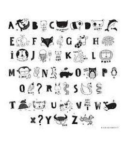 Lightbox letter set ABC Zwart