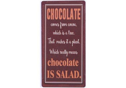 Magneet-Chocolate is salad