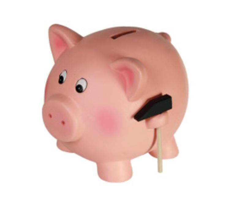 Ceramic Savings Box, Pig with Hammer, 13x11cm