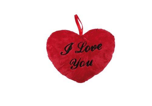 Hartenkussen I Love You mini 18cm