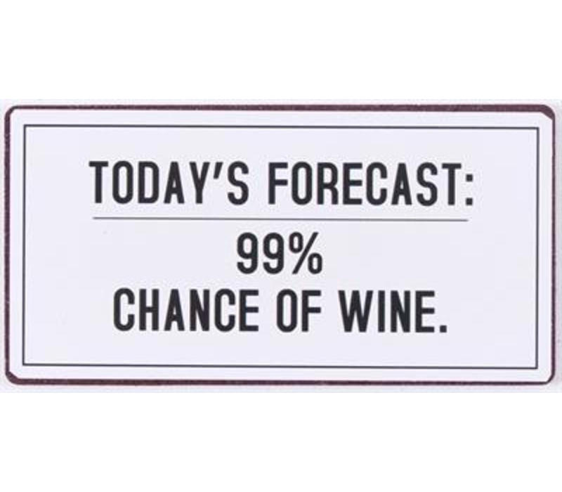 Magneet Today's forecast 99% chance of wine