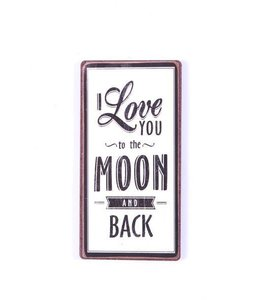 Magneet I love you to the moon staand