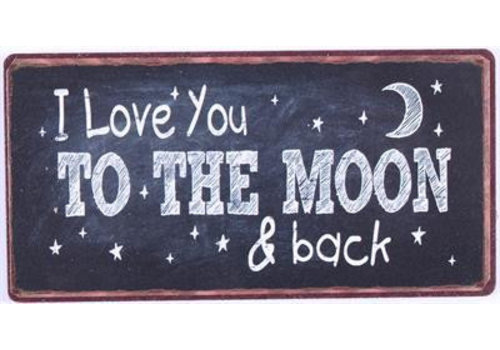 Magneet I love you to the moon and back