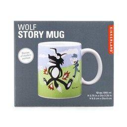Kikkerland Story mug wolf