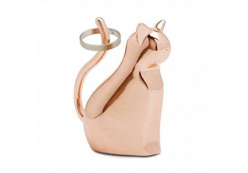 Anigram ring holder cat copper