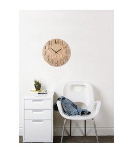 Shadow wall clock grenen