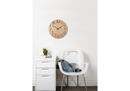 Shadow wall clock grenen