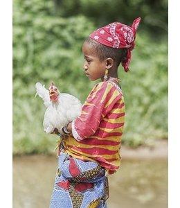 Meisje met kip