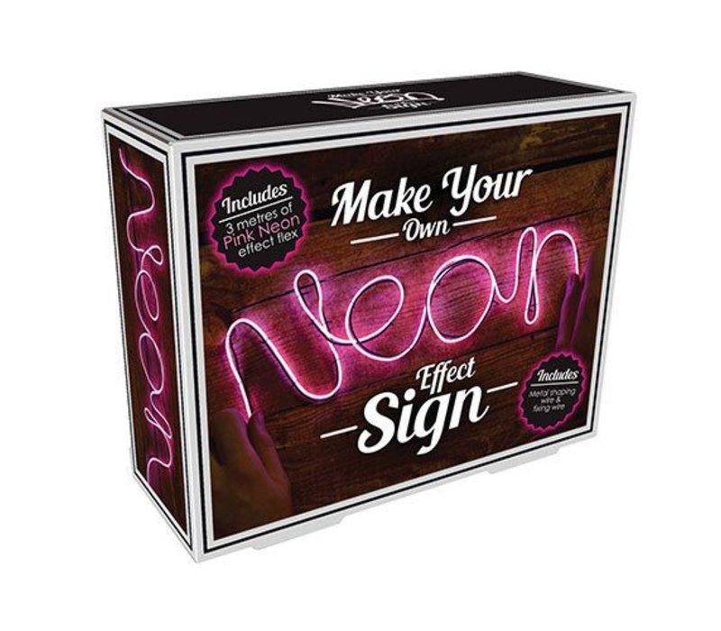 DIY Neon sign roze