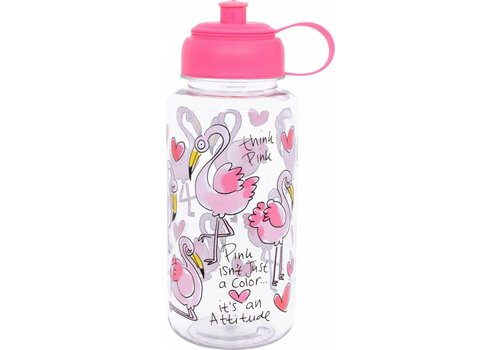 BLOND AMSTERDAM WATER BOTTLE FLAMINGO