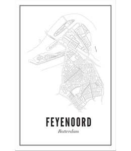 Wijck Poster Feyenoord 50x70
