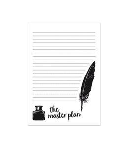 Beezonder A5 Notitieblok - The master plan