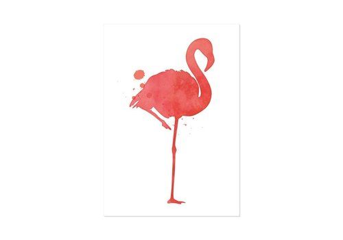 Beezonder Poster A4 Flamingo
