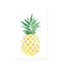 Beezonder Poster A4 Ananas