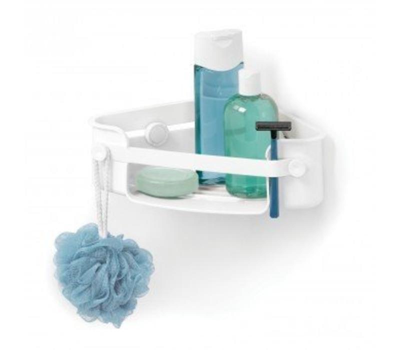 Flex gel-lock corner bin white