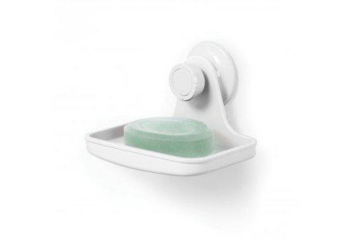 Flex gel-lock soap dish white