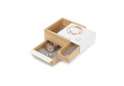 Mini stowit juwelry box natural/white