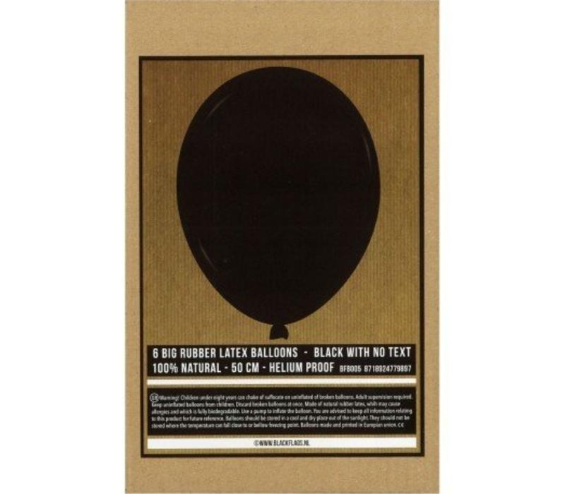 Ballonnen Zwart set van 6