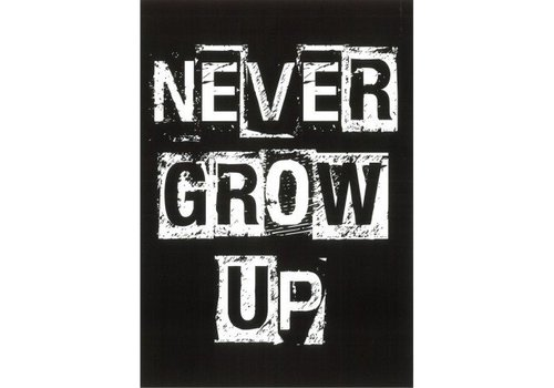 Black Flags Never Grow Up XL ansichtkaart