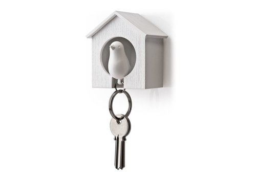 Sleutelhouder - Sparrow key wit