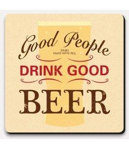 Coaster Lettered - Good people good beer