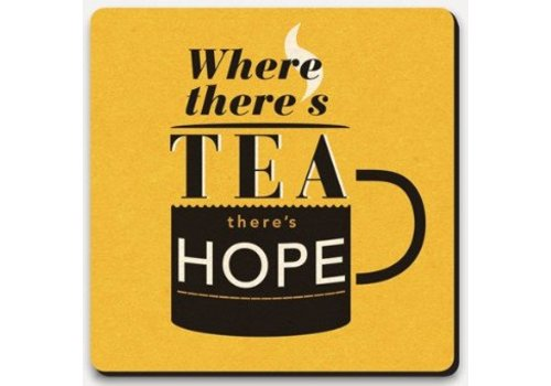 Coaster Lettered - Tea and hope