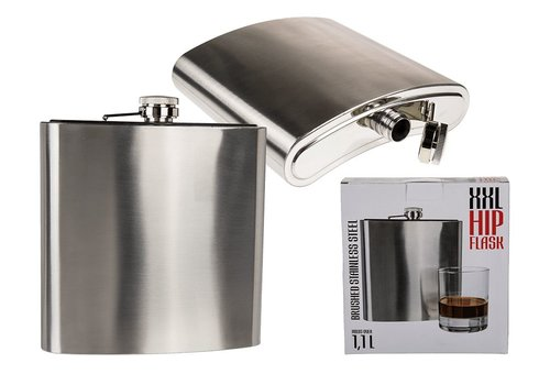 Metalen drankfles XL - Platvink