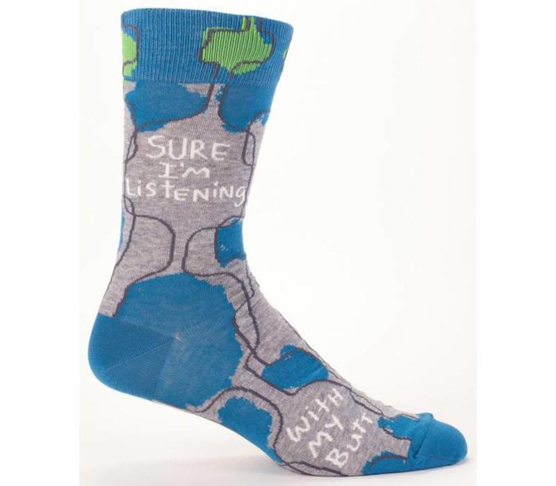 Men Socks - Sure I'm listening